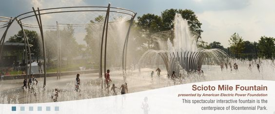 Interactive water fountains