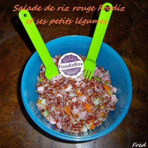 [Fred] Une salade fraîche et équilibrée qui a beaucoup plu à mon homme.    http://kazcook.com/blog/archives/520-Salade-de-riz-rouge-Foodiz-et-ses-petits-legumes.html