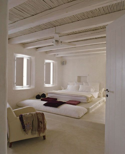 Greece, Bedrooms And Polished Concrete On Pinterest
