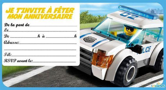 Invitation anniversaire Lego the city 3                              …