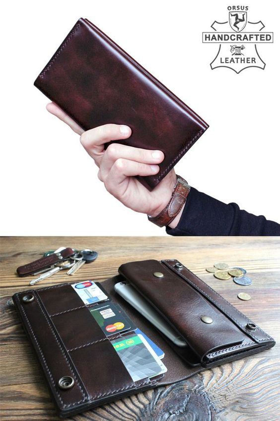 Mens long wallet, man long wallets, long wallet with coin purse, leather purse, leather long wallets for men, checkbook wallet, travel wallet, #accessories #wallet #brown #anniversary #travelwallet #travel #longwallet #manwallet #handmade #luxuryleather #handstitched