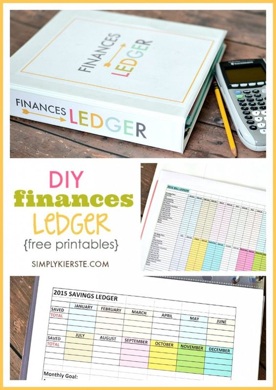 DIY Finances Ledger Free printables, Organizing and Easy - printable account ledger