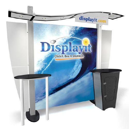 XRW1N1SH XRline Wave Trade Show Display, Fabric Exhibits, Budget, Cheap, Inexpensive, trade show, presentation,…