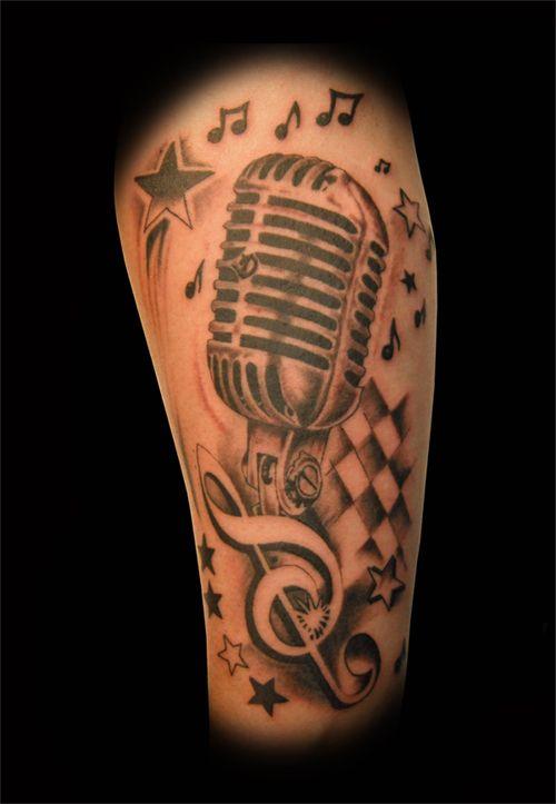 oldschool microphone tattoo designs google search tattoo ideas pinterest google tattoo. Black Bedroom Furniture Sets. Home Design Ideas