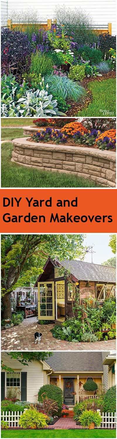 Diy yard and garden makeover ideas gardens garden for Garden makeover ideas