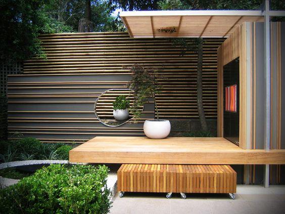 ... intimité dans le jardin  Terrasses, Nice et Design de clôture