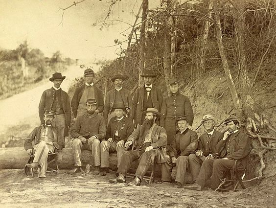 Surgeon John H. Brinton and Group of Hospital Attendants in Front of Petersburg, Va., October, 1864 Other Title: Petersburg, Va., Oct. 1864. Surg. Jeremiah Barnard (medical purveyor), Brinton and group of hospital attendants. Photographed 1864,. Title from item. Alternate title and date from Catalogue of photographic incidents of the war, from the gallery of Alexander Gardner ... by Bob Zeller, published by the Center for Civil War Photography, c2003. Gift; Col. Godwin Ordway; 1948.