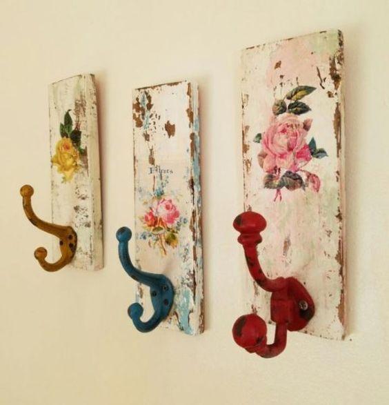 Diy elisa & magic paint. Decoupage Su Legno La Tecnica 15 Idee Per Decorare I Vostri Oggetti Diy Hat Rack Handmade Home Decor Decorative Wall Hooks