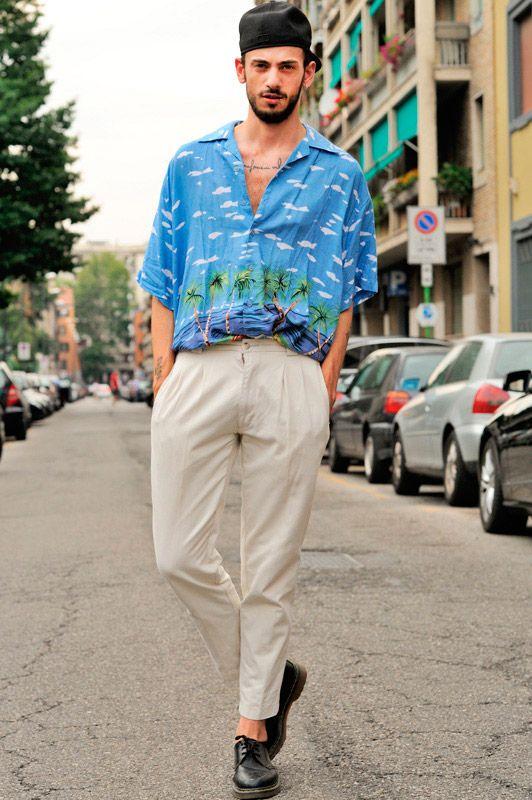 30代40代海外メンズアロハコーデ#Hard #Mode #Fashion #Men #Homme