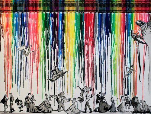fancysomedisneymagic:  by Leah Bubeck The Colours of Disney!