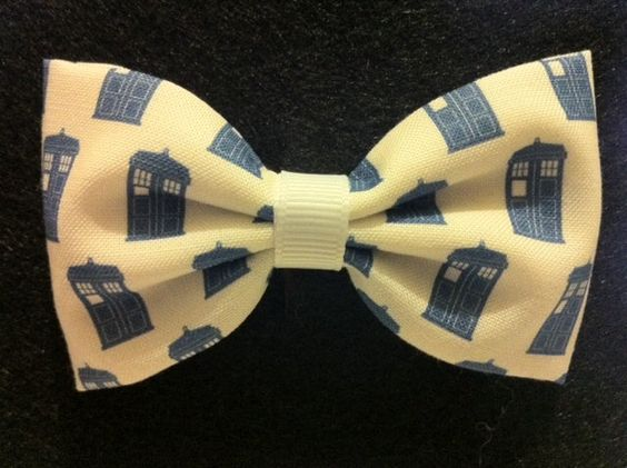 Dr. Who TARDIS Themed Fabric Hair Bow (Sneak Preview). $6.50, via Etsy.