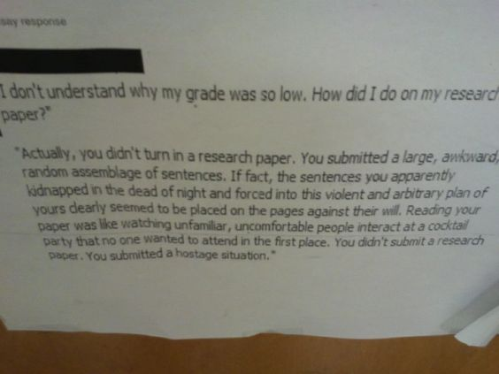 You Did Not Submit a Research Paper