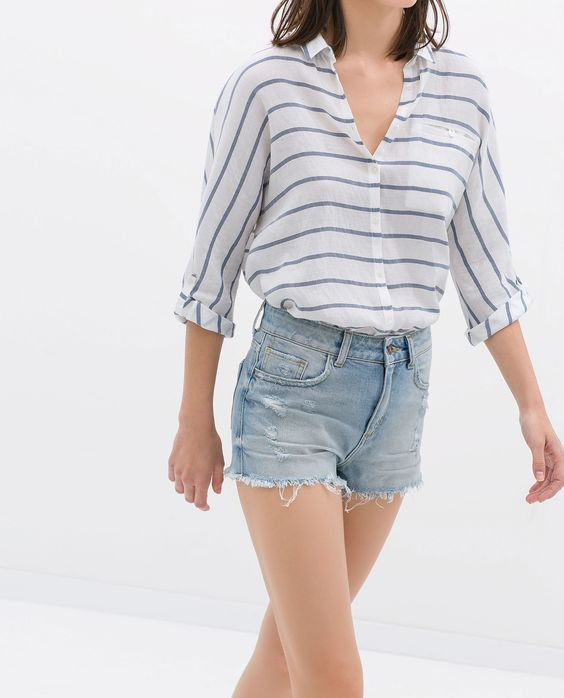 ZARA - SALE - RIPPED SHORTS
