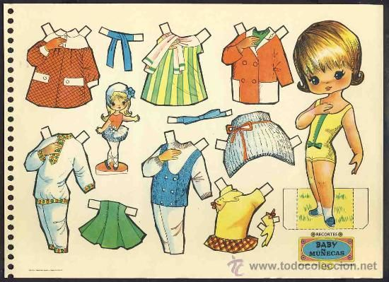 Recortable de muñecas: Recortes Baby Muñecas (Ed.Roma num.14) - Foto 1