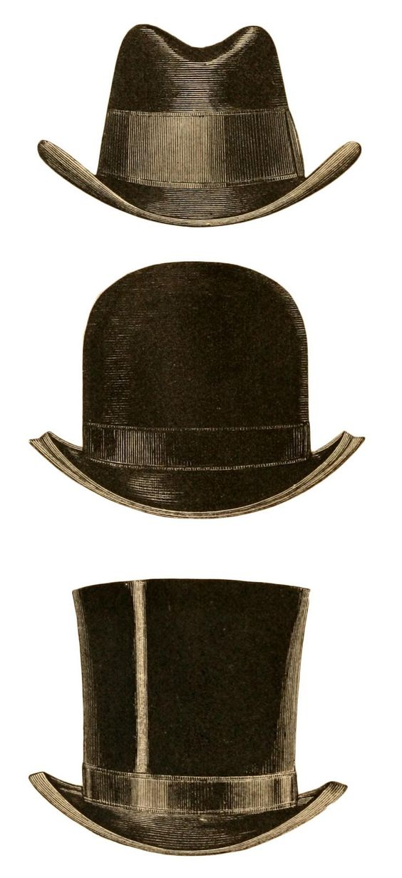 Bethany chose an antique top hat as her winter headgear.  Lew wears a Bowler hat. /Victorian Style Hats