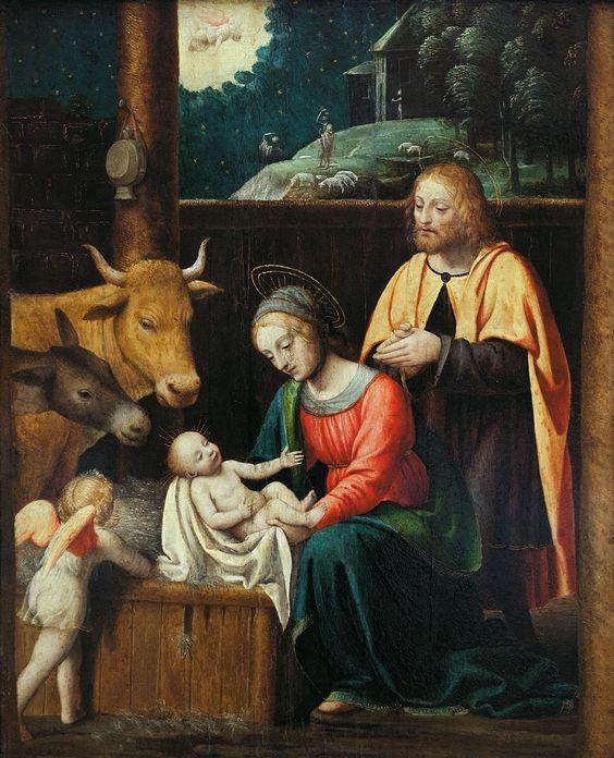 Bernardino Scapi detto Bernardino Luini (1481-1532) — The Nativity : The Gemäldegalerie, Berlin. Germany (972×1200):