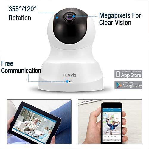 2,4GHz WiFi /Überwachungskamera innen Handy mit Schwenk-//Neigefunktion 2-Wege-Audio Nachtsicht und Bewegungserkennung E1-2Pack Reolink WLAN Kamera schwenkbar mit 3MP HD