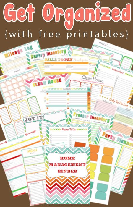 Home Management & Organization Full Set Of Free Printables ! To Use separately Or Place all in one Home Management Binder !. I just starting using this Binder and LOVE IT!!