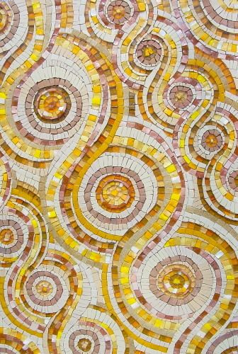 GANGES KARMA...Clay tea cups made of Ganges clay collected in Varanasi in India, smalti, porcelain, sicis glass, vitreous glass. Sue Kershaw Mosaic Artist (York, UK). www.mosaicart.org.uk / 07929 884759