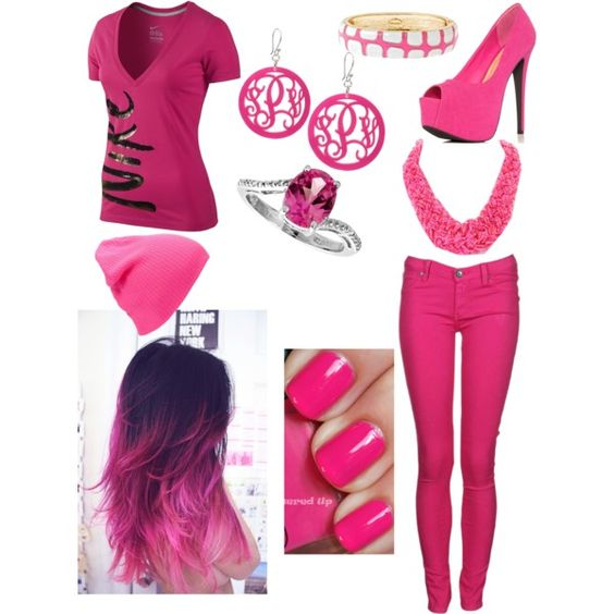 """Pink party time"" by hayleycavanaugh on Polyvore"
