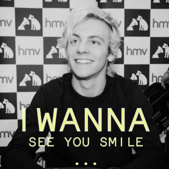 Ross has the  BIGGEST smile I've ever seen him with (: