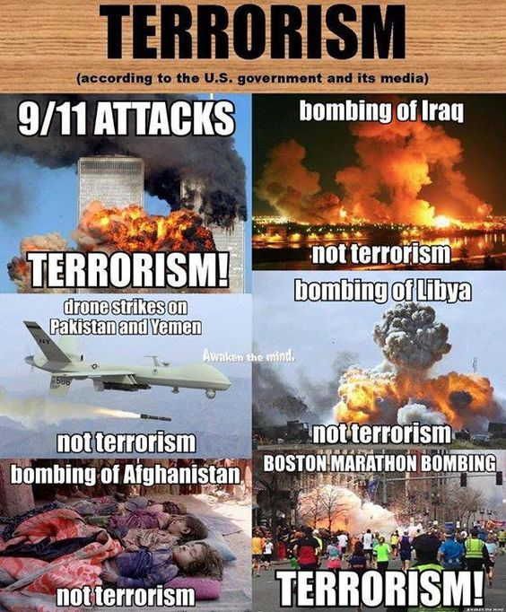 Terrorism according to gov't and its presstitute media.