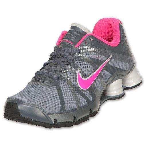 pink and gray nike shox