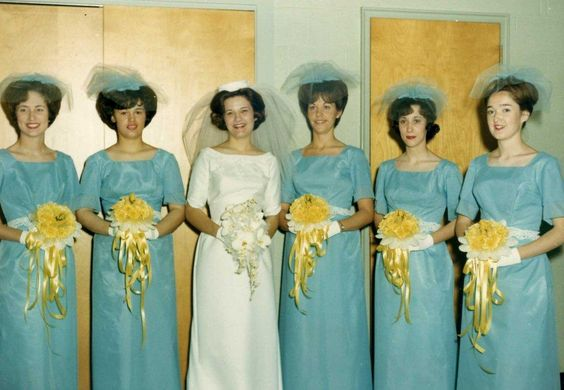 Bride Mary with her attendants, 1966: