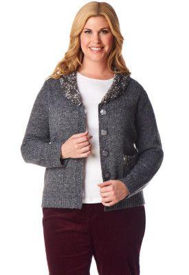 Popcorn Sweater Jacket - CJ Banks