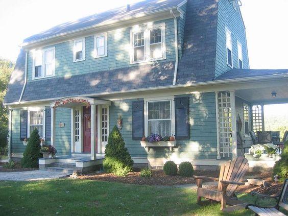 Dutch Colonial Gordon Van Tines Kit Home built in 1929 has a lot of the original designs like corner hutch.
