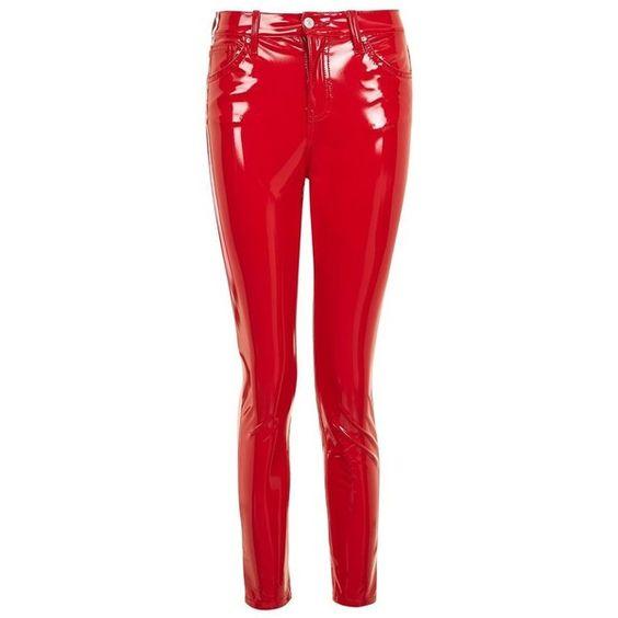 Women's Topshop Jamie Vinyl Skinny Jeans (1.335.700 IDR) ❤ liked ...