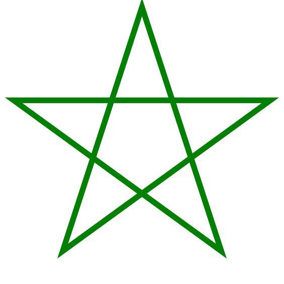 Un pentagrama, pentalfa o pentángulo