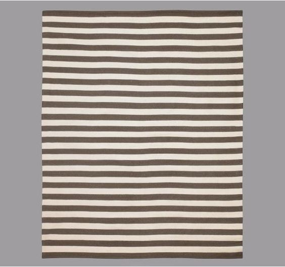 dwell studio draper stripe major brown rug prints and