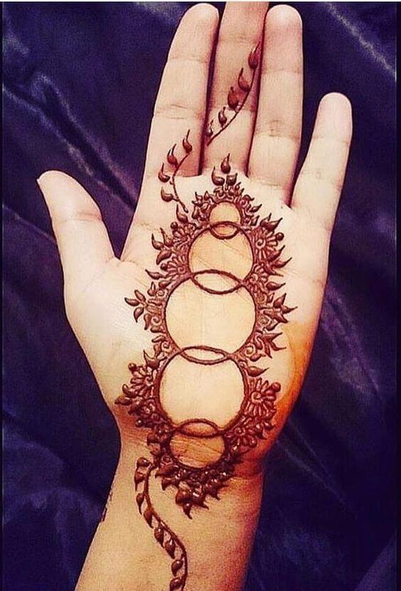 One Line Mehendi Design For Left Hand Henna Mehndi Art Designs