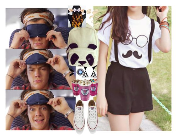 """Baskin Robbins W/H Harry"" by chap15906248 ❤ liked on Polyvore featuring cutekawaii, Converse, Topshop and L'Artisan Créateur"