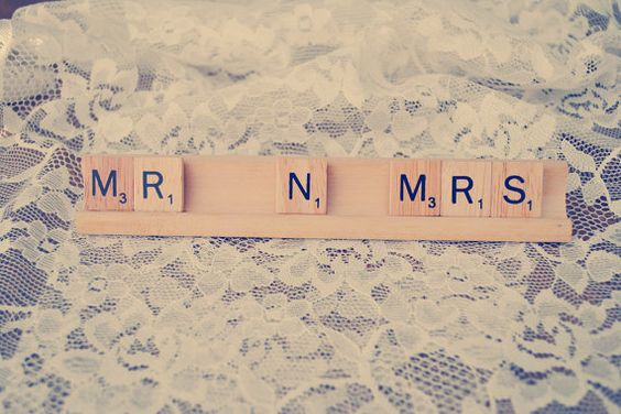 Sr. N Mrs / boda diciendo / / señal de Scrabble / / Mr and Mrs / Prop foto de boda