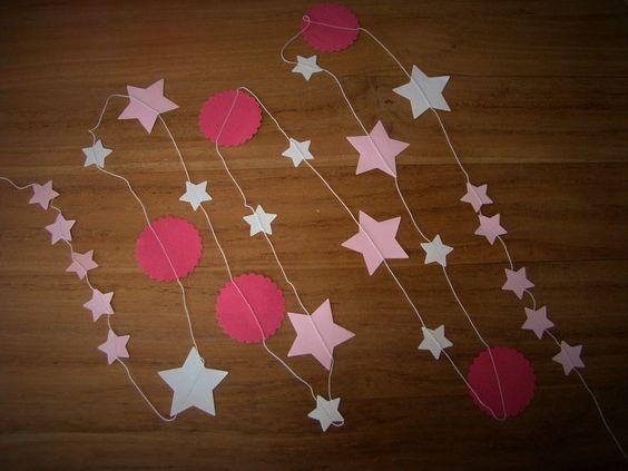 Guirlande en papier pour une chambre d'enfant lulu-et-rose.alittlemarket.com