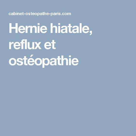 Hernie hiatale, reflux et ostéopathie