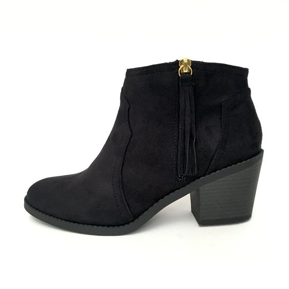 Round Up Booties In Black