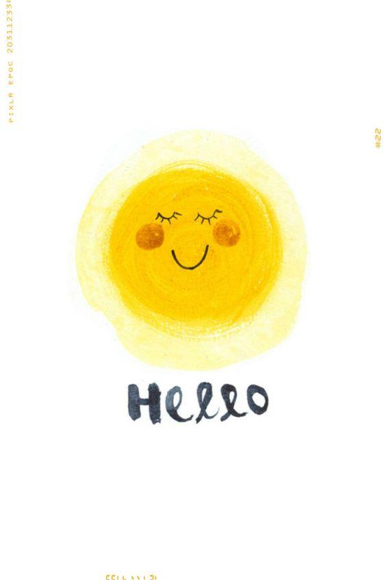 Hello Sunshine Art Print: