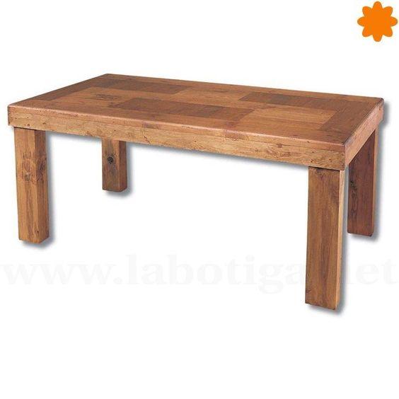 Mesa de madera maciza para centro de comedor mediana for Mesa madera maciza