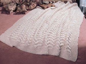 Free Afghan Knitting Patterns Circular Needles : Blissful Knit Afghan ePattern Warm, Design and Originals
