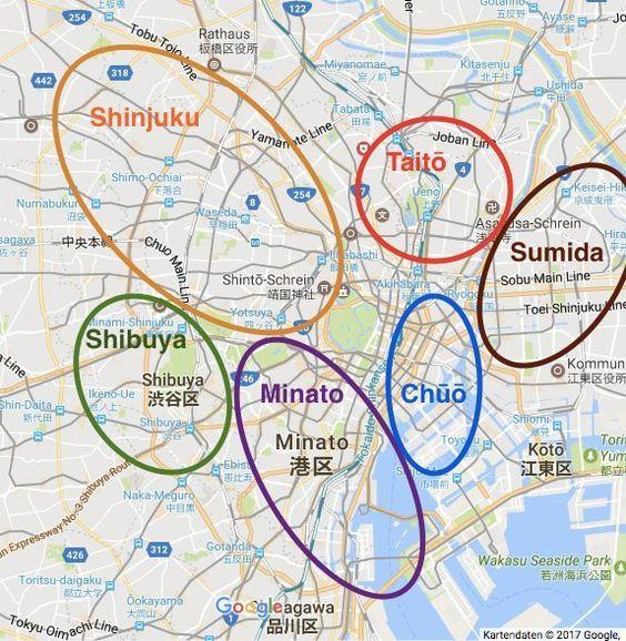 Tokio Reisetipps Und Die Schonsten Sehenswurdigkeiten Map Tokio Japan Reisen Reisetipps