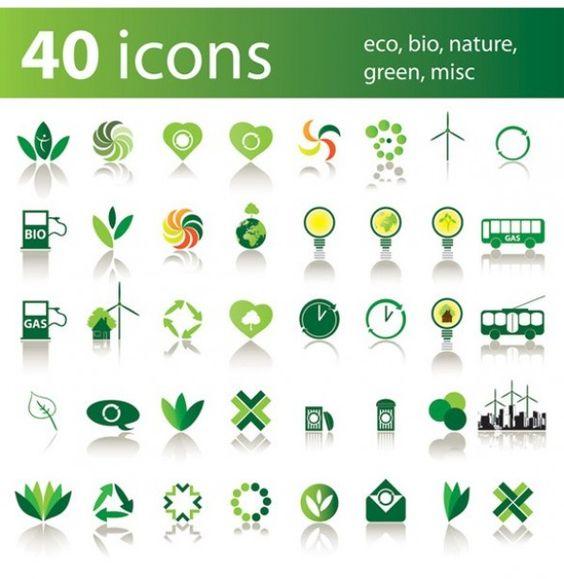 40 Green Environment Nature Vector Icons Set - https://gooloc.com/40-green-environment-nature-vector-icons-set/