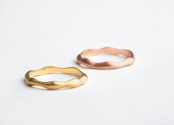Dainty organic slim 14 18 karat gold wedding band ring | 14k 18k gold | custom size | women's narrow ring | Berman Designers by Berman Designers #rings #wedding #berman-j photo: @liatalbeling