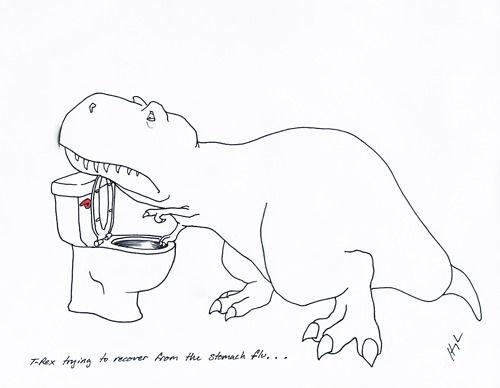 Sad t-rex!