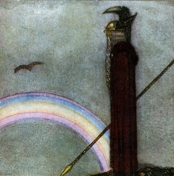 "John Bauer, ""Odin and Bifrost"", from ""Our Fathers Godsaga"" by Viktor Rydberg"