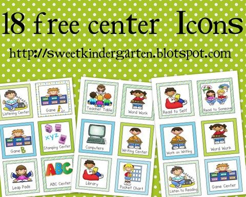 Life Is Sweet....In Kindergarten!: *Free* Literacy Center/ Daily 5 Icons
