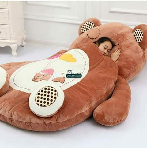Gaint Teddy Bed Online At Best Price Please Whatsapp Us At 91 9300002732 For More Updates Cash On Delivery Ava Bear Sleeping Bags Bed Mattress Mattress Sofa