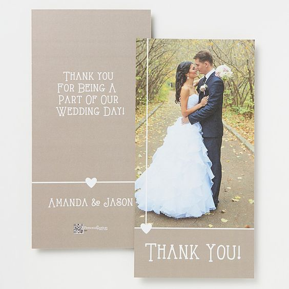 14518 - Marriage Is A Blessing Personalized Photo Thank You Cards